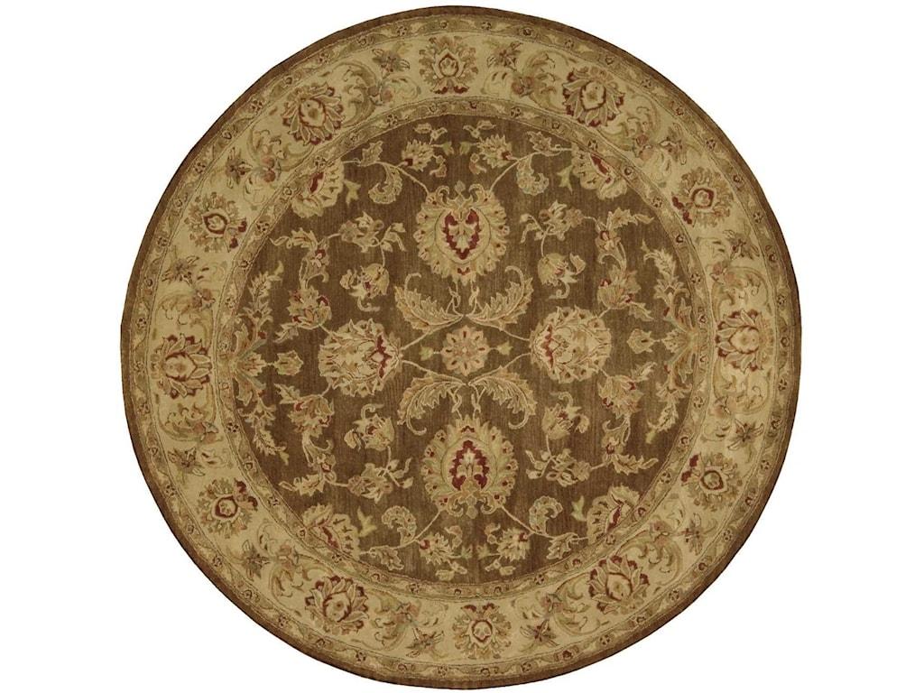 Nourison Jaipur6' x 6' Brown Round Rug
