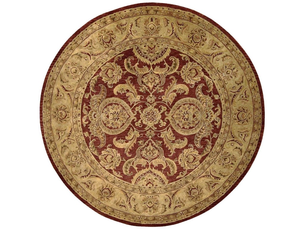 Nourison Jaipur8' x 8' Cinnamon Round Rug