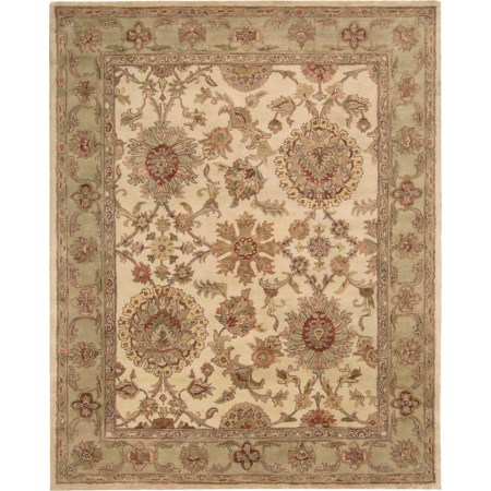 "7'9"" x 9'9"" Ivory Rectangle Rug"
