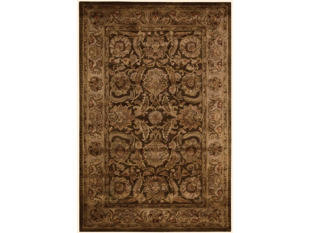 Nourison Jaipur2' x 3' Brown Rectangle Rug