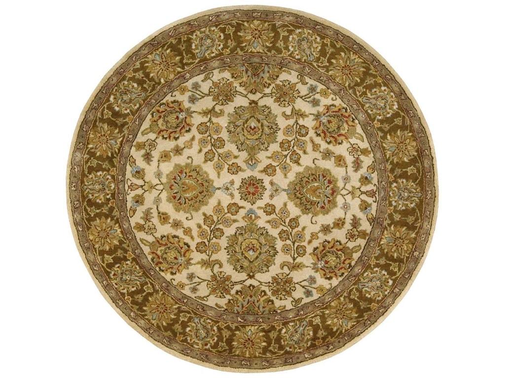 Nourison Jaipur6' x 6' Ivory/Brown Round Rug