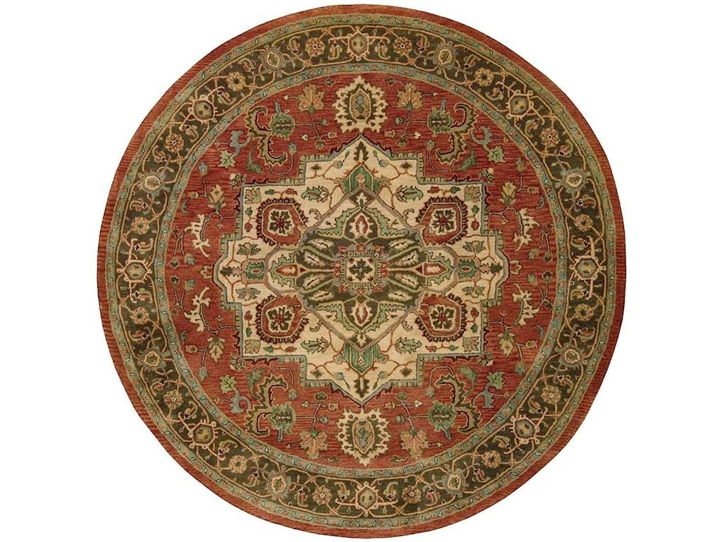 Nourison Jaipur8' x 8' Red Round Rug