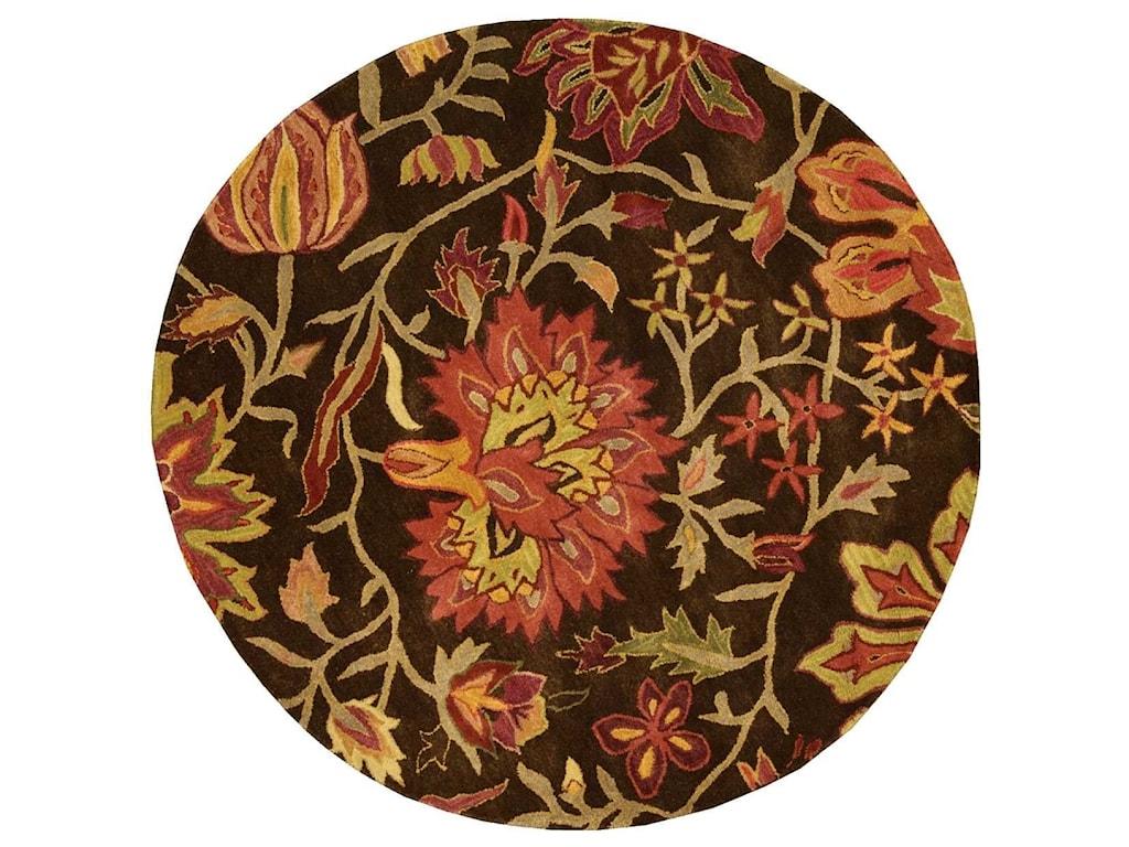 Nourison Jaipur6' x 6' Chocolate Round Rug
