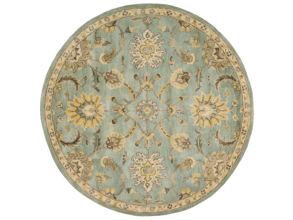 Nourison Jaipur6' x 6' Light Blue Round Rug
