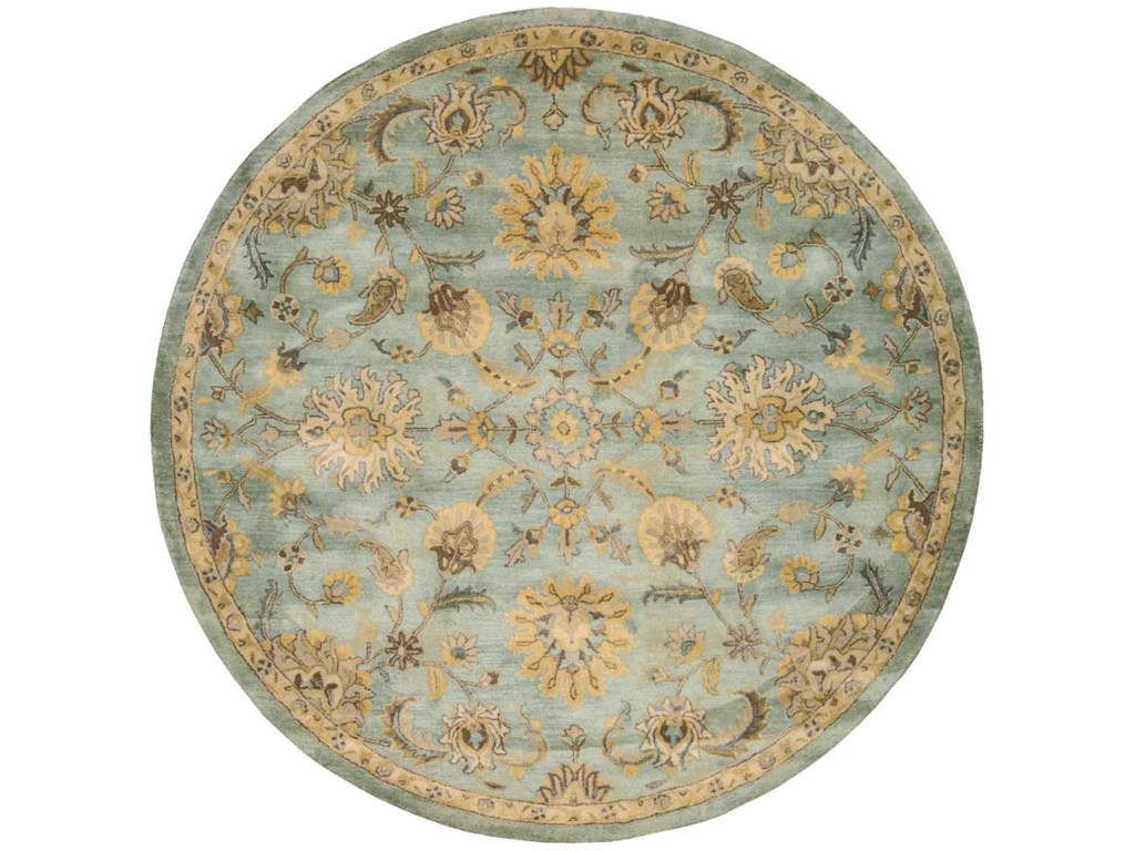 Nourison Jaipur8' x 8' Light Blue Round Rug
