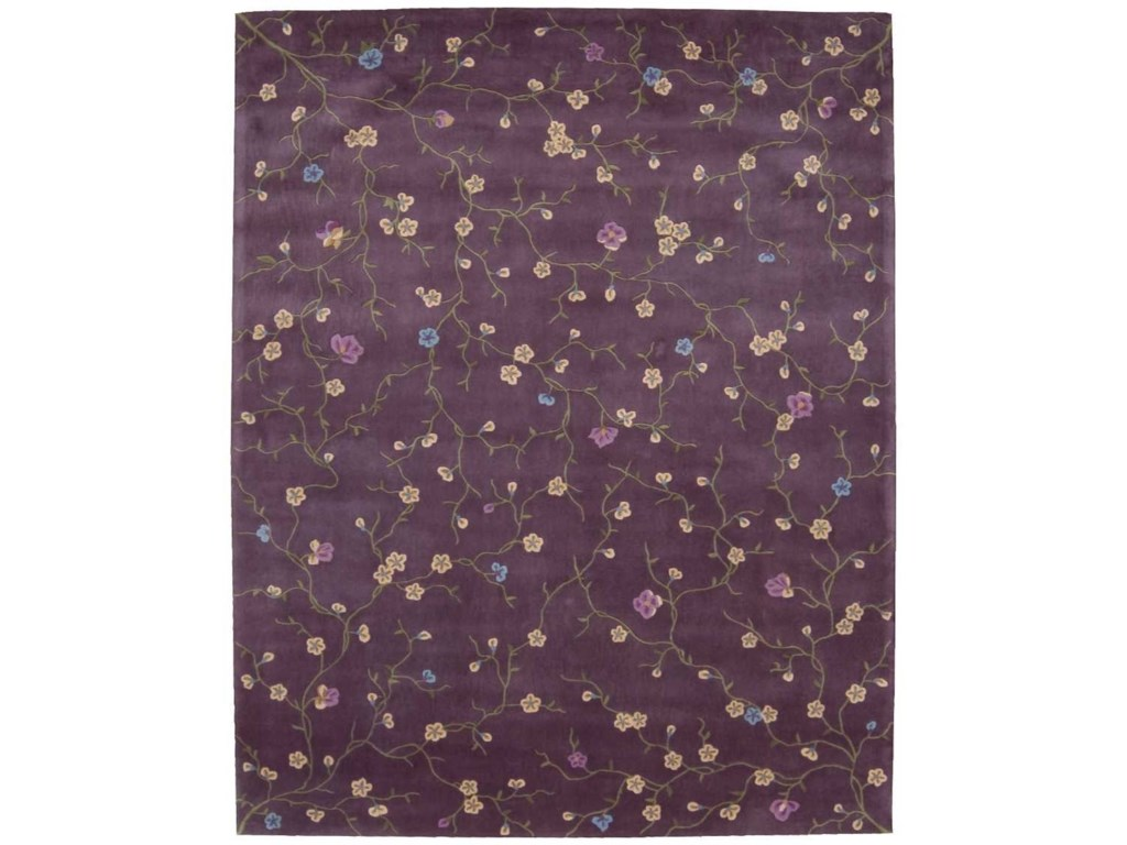 Nourison Julian8' x 11' Lavender Rectangle Rug