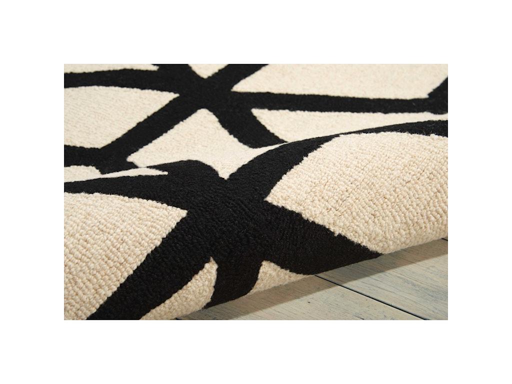 Nourison Linear5' x 7' Ivory/Black Rectangle Rug