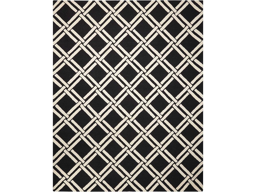 Nourison Linear8' x 11' Black/White Rectangle Rug