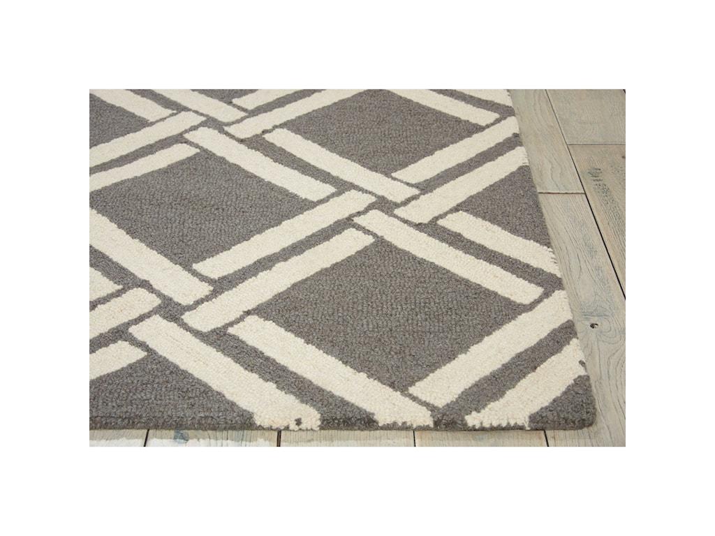 Nourison Linear5' x 7' Grey/Ivory Rectangle Rug