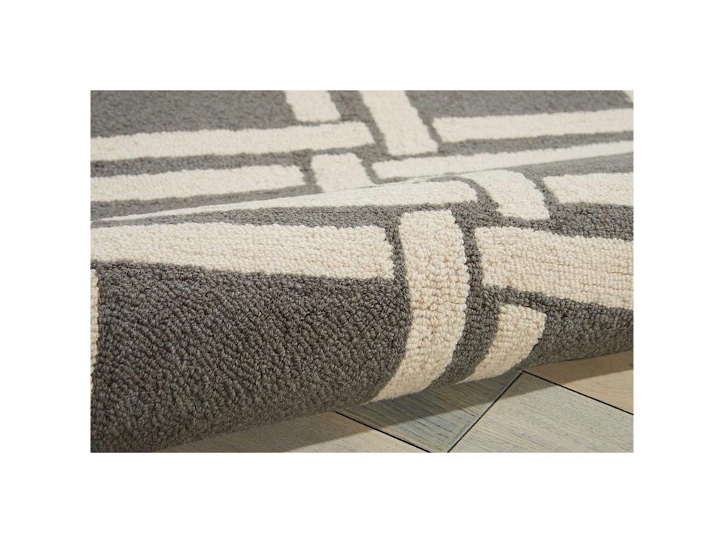 Nourison Linear8' x 11' Grey/Ivory Rectangle Rug