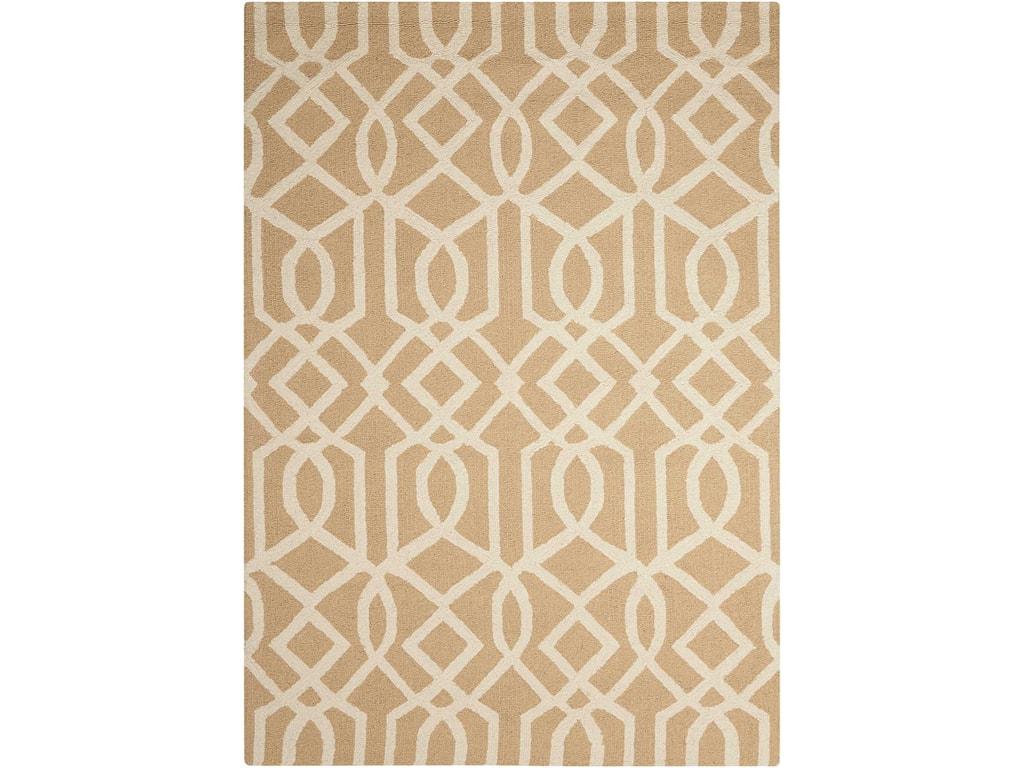 Nourison Linear8' x 11' Sand/Ivory Rectangle Rug