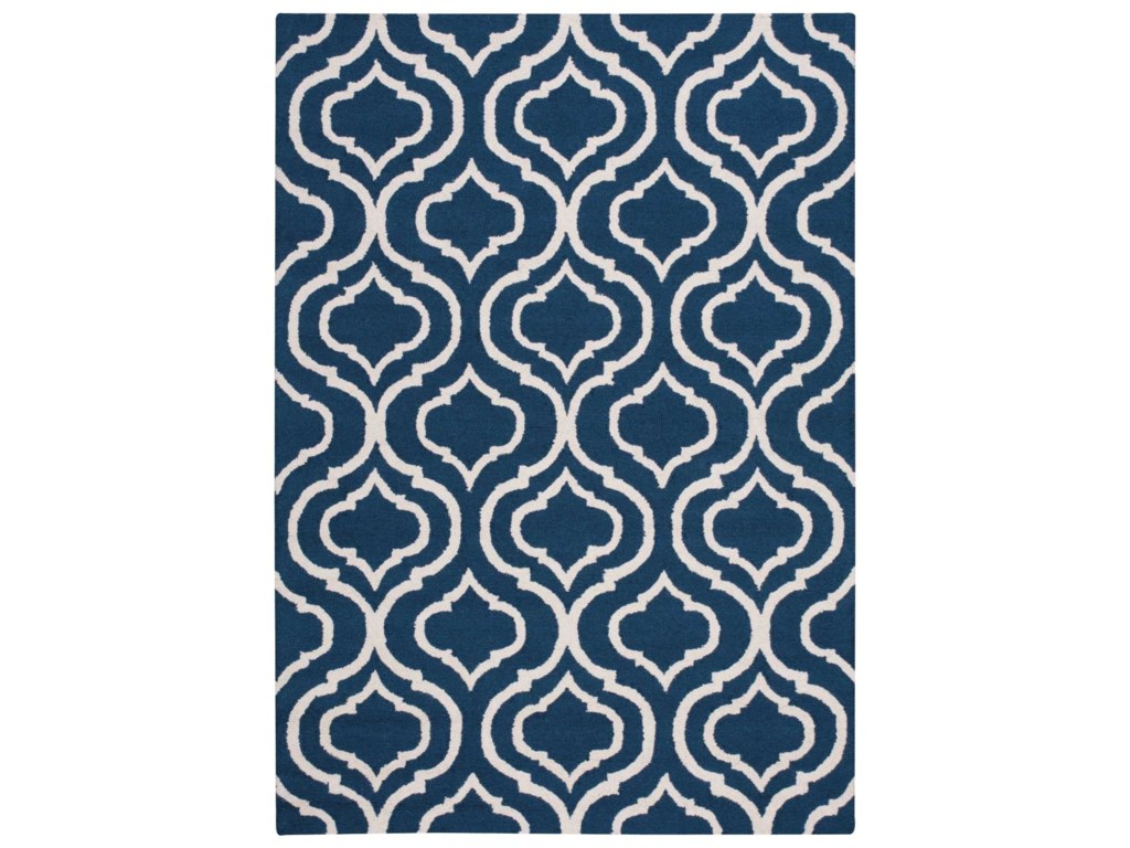 Nourison Linear5' x 7' Navy Rectangle Rug