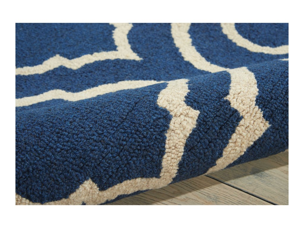 Nourison Linear8' x 11' Navy Rectangle Rug