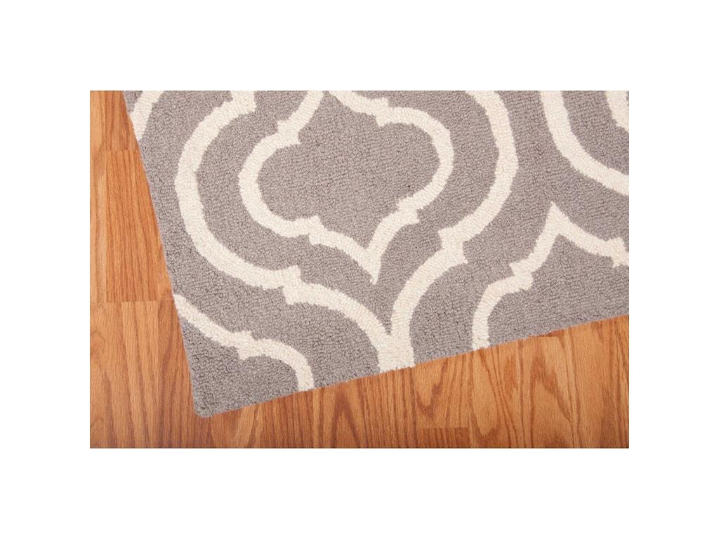 Nourison Linear5' x 7' Silver Rectangle Rug