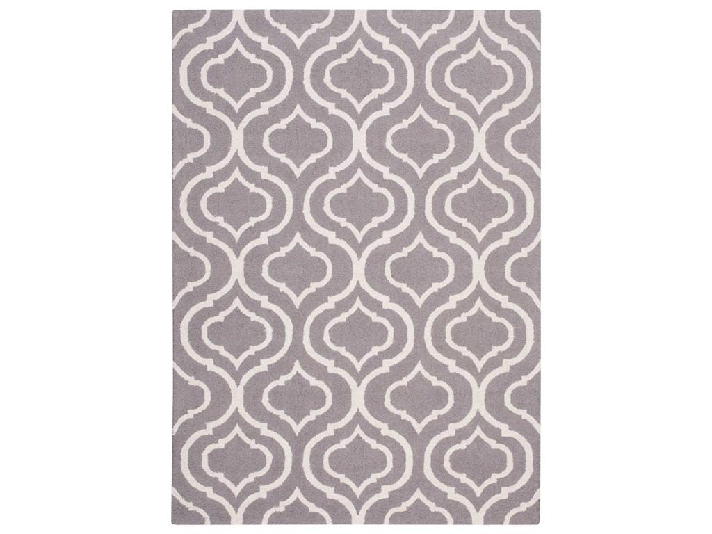 Nourison Linear8' x 11' Silver Rectangle Rug