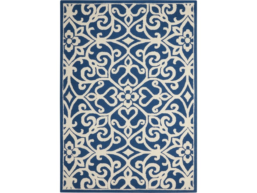 rug rugs dotted printed mohawk dining com aurora falls area amazon kitchen home blue navy delerus dp