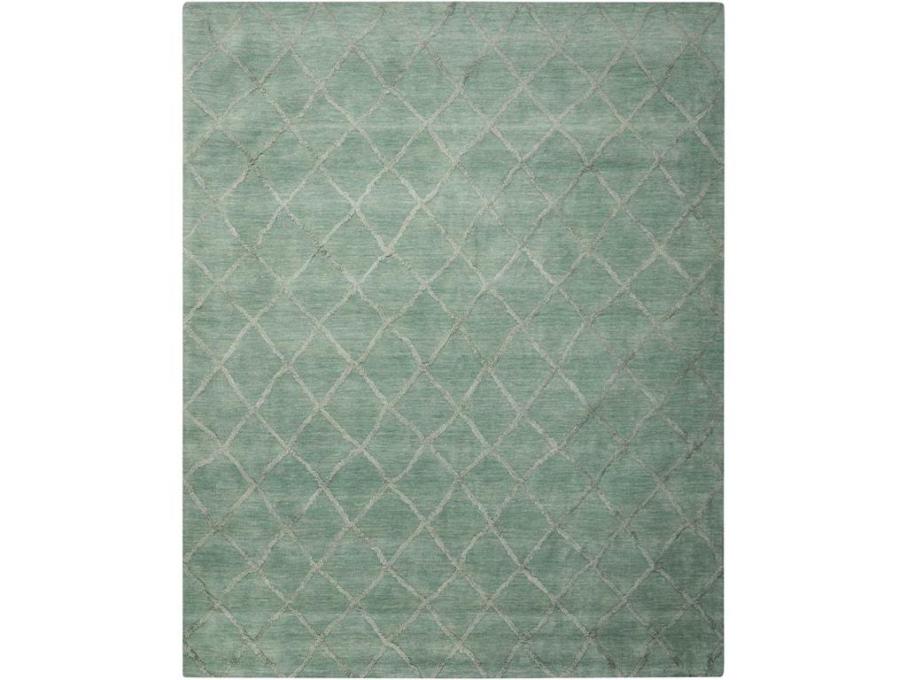 Nourison Lunette8' x 10' Aqua Rectangle Rug