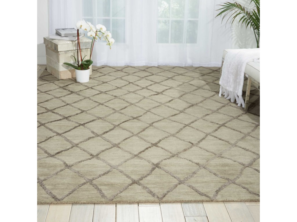 Nourison Lunette8' x 10' Silver Rectangle Rug