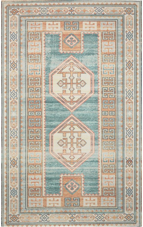 Nourison Madera 5' X 7' Teal Green           Rectangle Rug