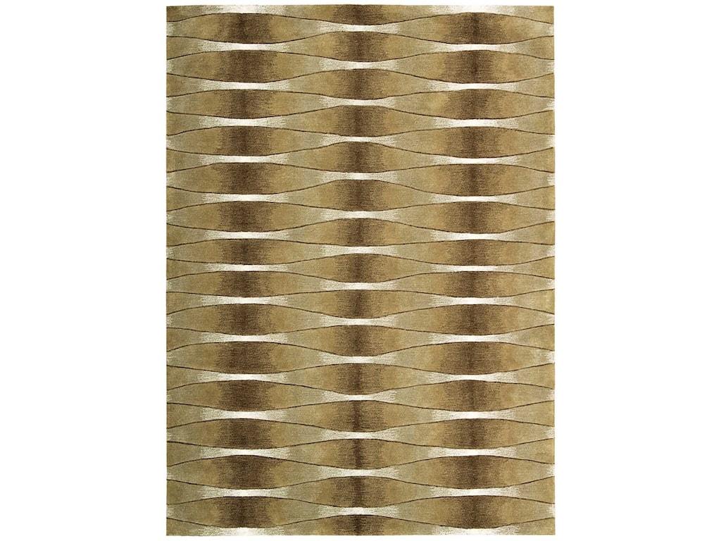 Nourison Moda8' x 11' Khaki Rectangle Rug