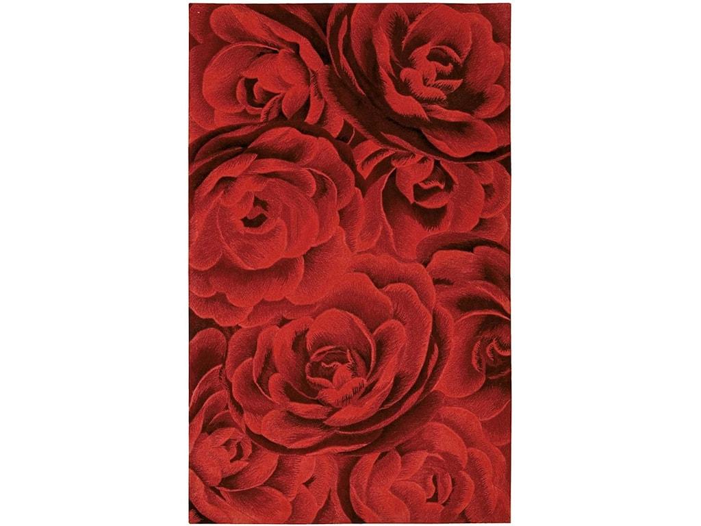 Nourison Moda8' x 11' Crimson Rectangle Rug