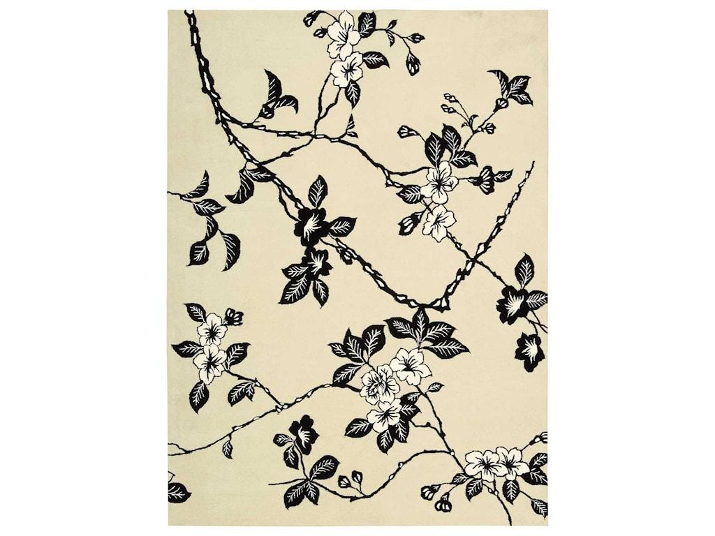Nourison Modern Elegance8' x 11' Black/White Rectangle Rug