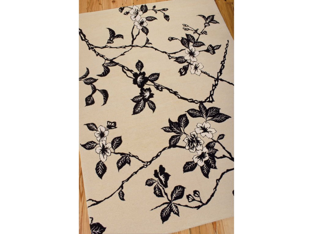 Nourison Modern Elegance8' x 11' Black/White Rectangle Rug