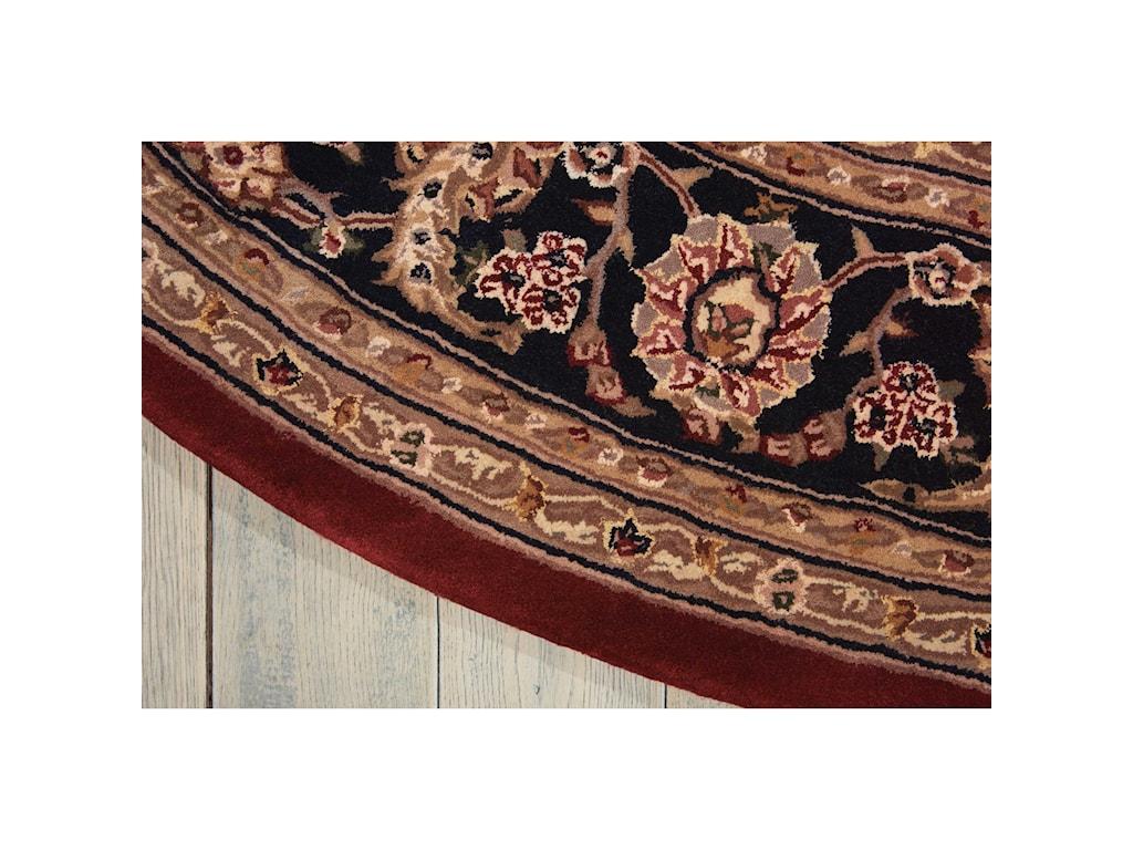Nourison Nourison 20004' x 4' Burgundy Round Rug