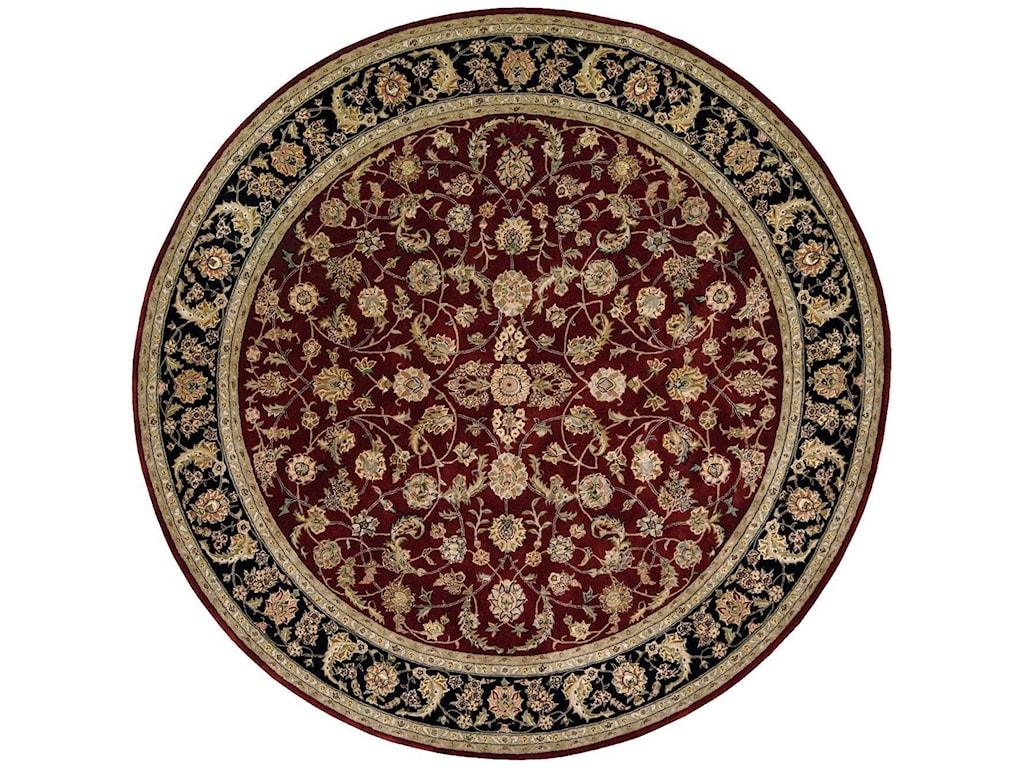 Nourison Nourison 20008' x 8' Burgundy Round Rug