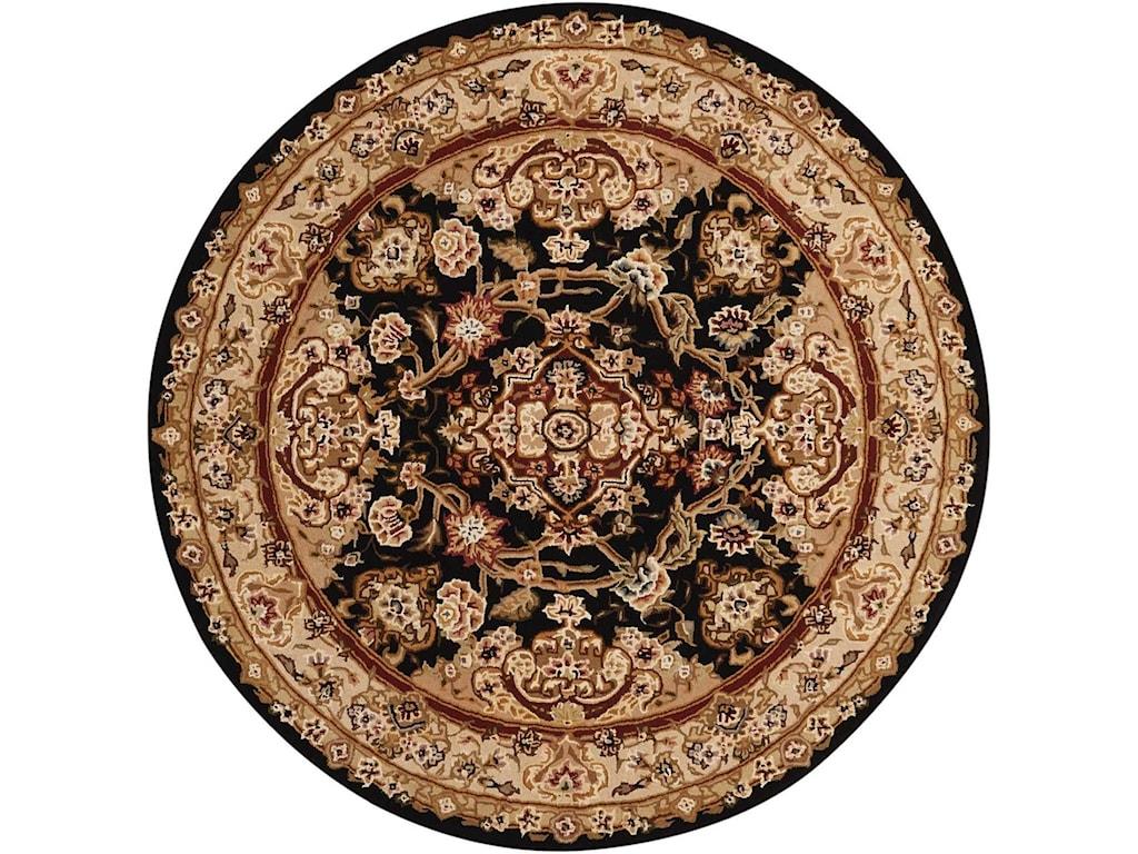 Nourison Nourison 20004' x 4' Black Round Rug