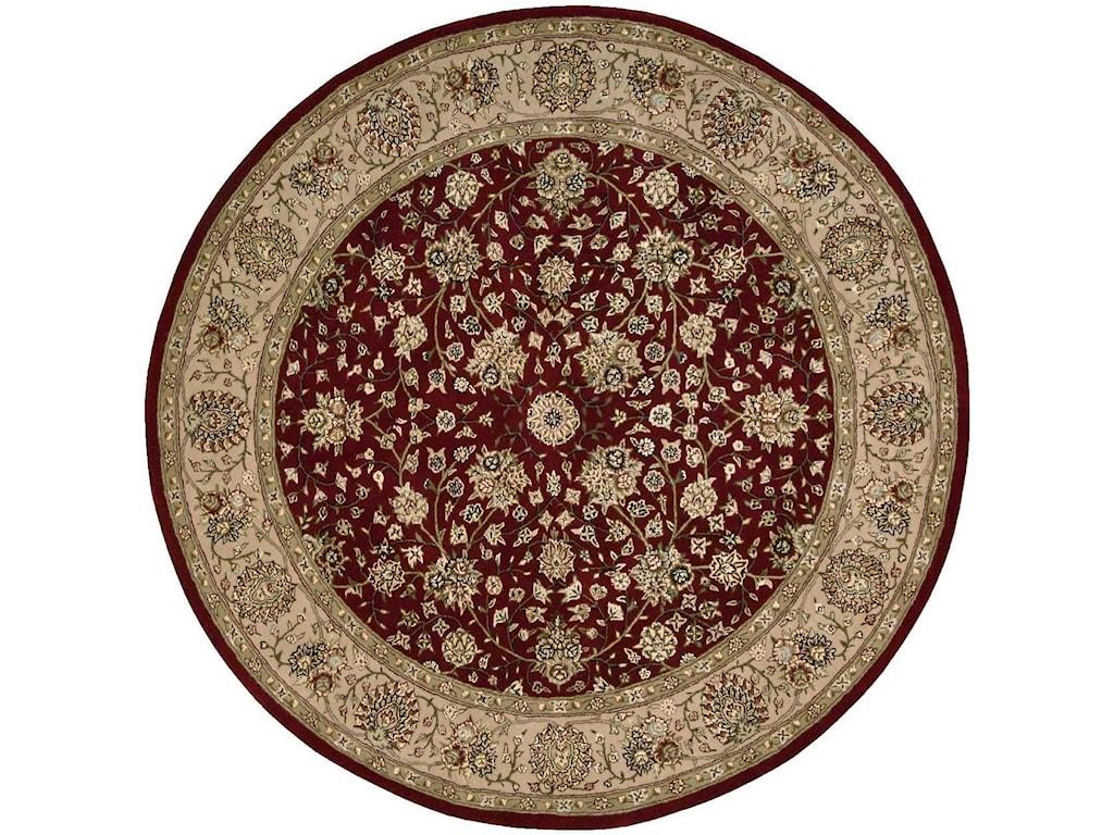 Nourison Nourison 20006' x 6' Burgundy Round Rug