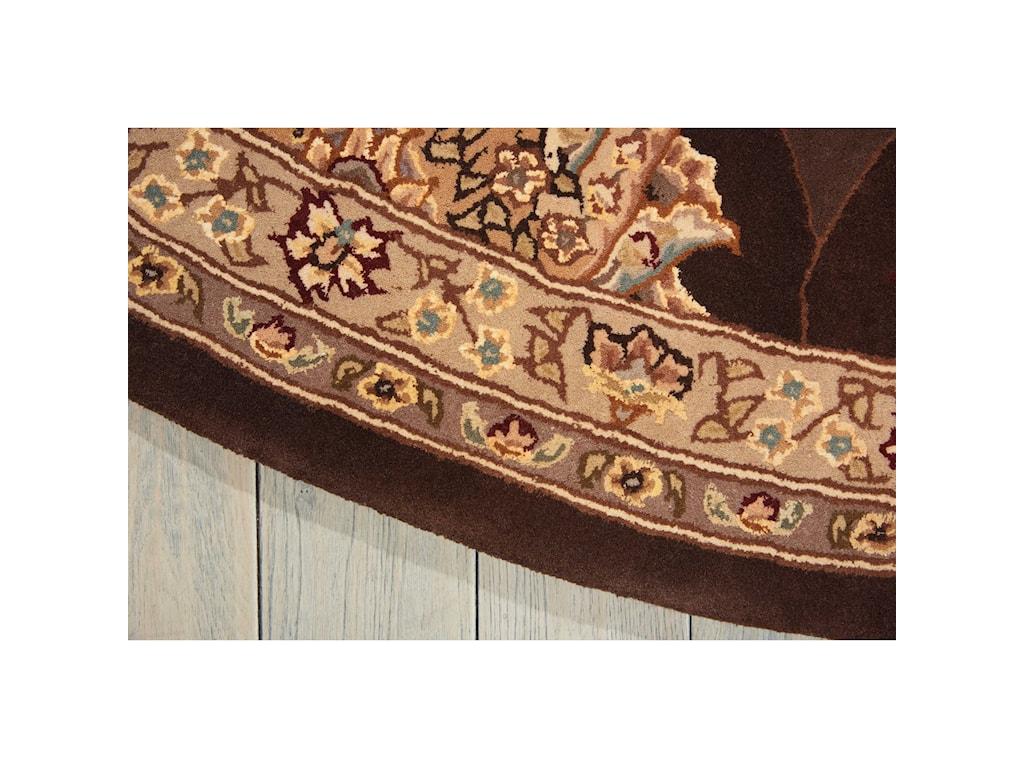 Nourison Nourison 20004' x 4' Brown Round Rug