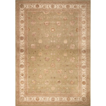 12' x 15' Light Green Rectangle Rug