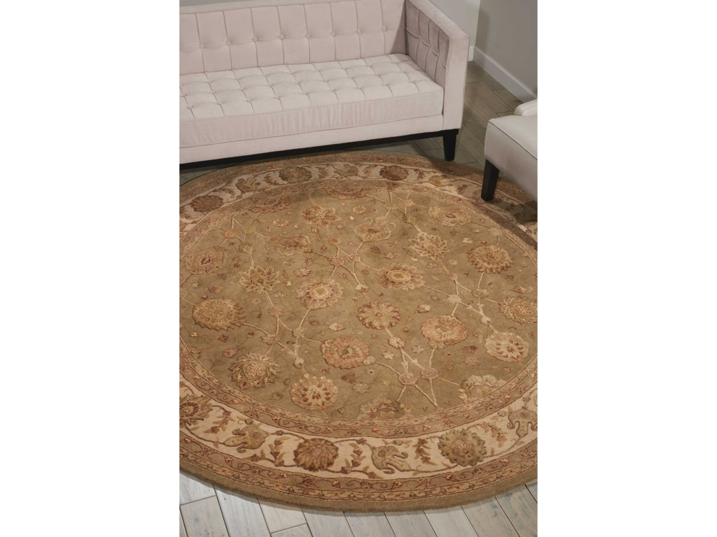 Nourison Nourison 30008' x 8' Light Green Round Rug