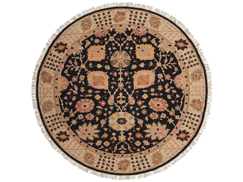 Nourison Nourmak8' x 8' Black Round Rug
