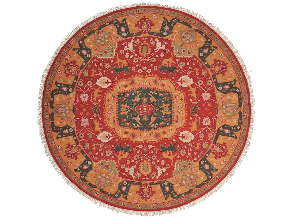 Nourison Nourmak8' x 8' Red Round Rug