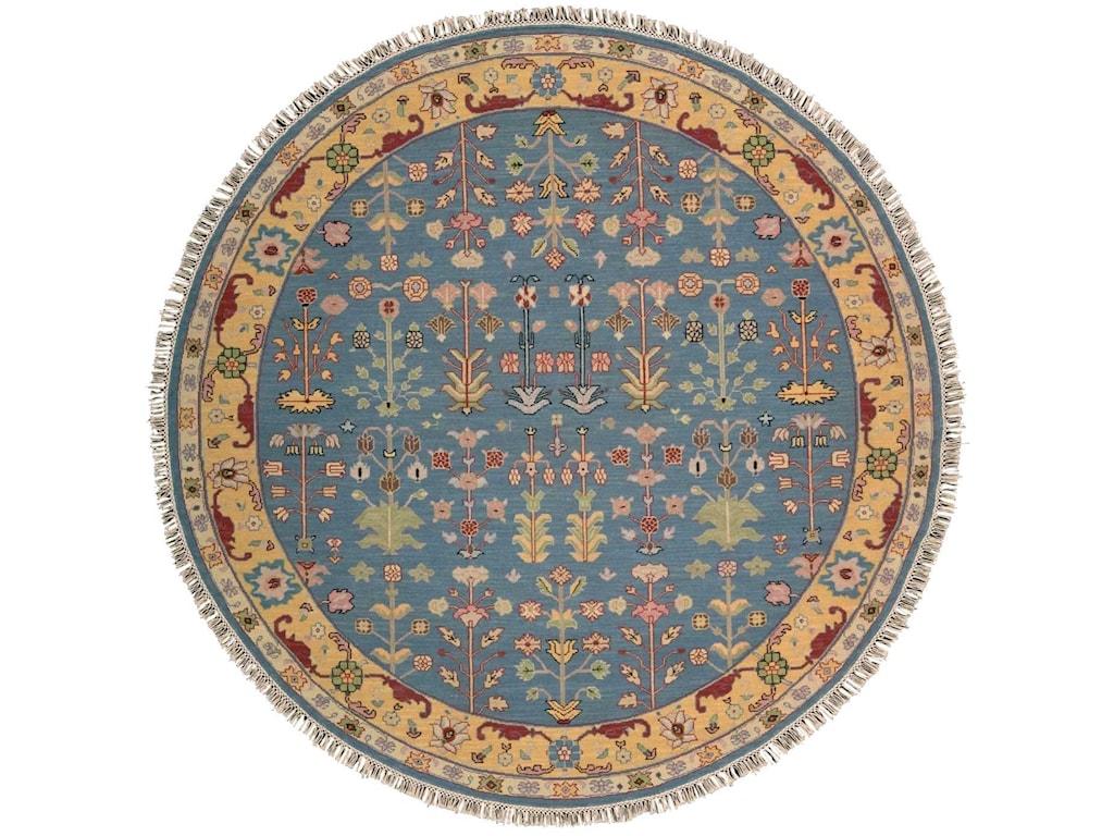 Nourison Nourmak8' x 8' Blue Round Rug