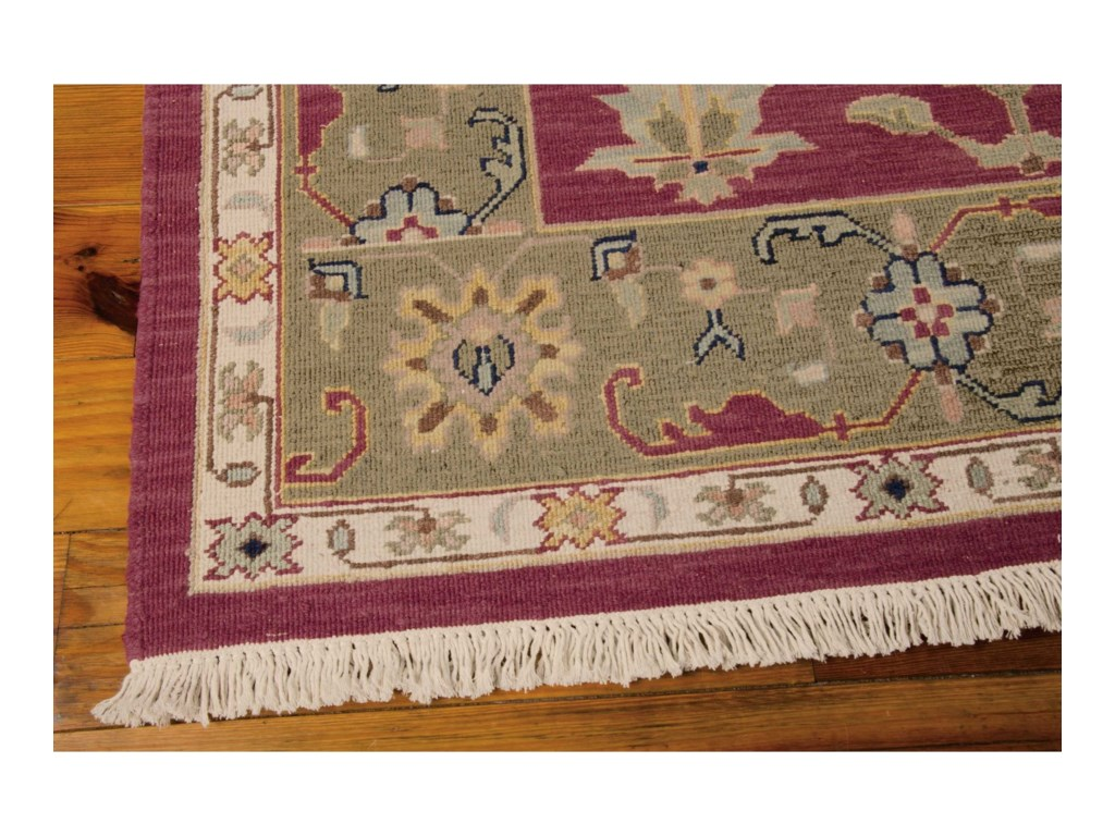 Nourison Nourmak12' x 18' Burgundy Rectangle Rug