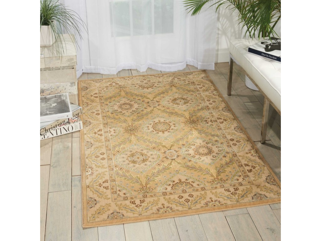 Nourison Persian Empire12' x 15' Light Gold Rectangle Rug