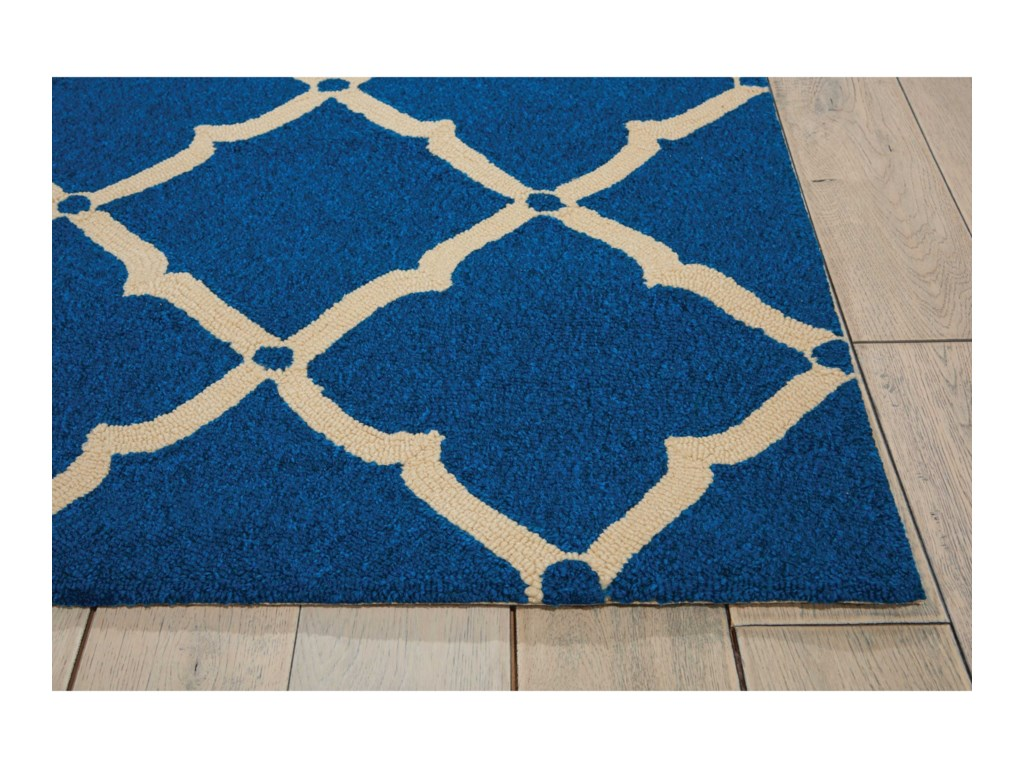 Nourison Portico10' x 13' Navy Rectangle Rug