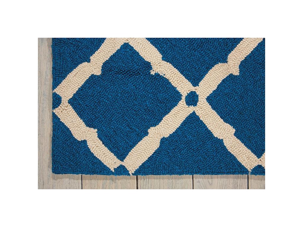 Nourison Portico2' x 3' Navy Rectangle Rug
