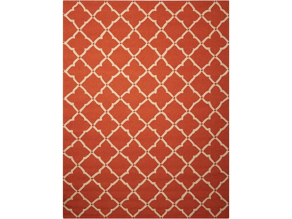 Nourison Portico10' x 13' Orange Rectangle Rug