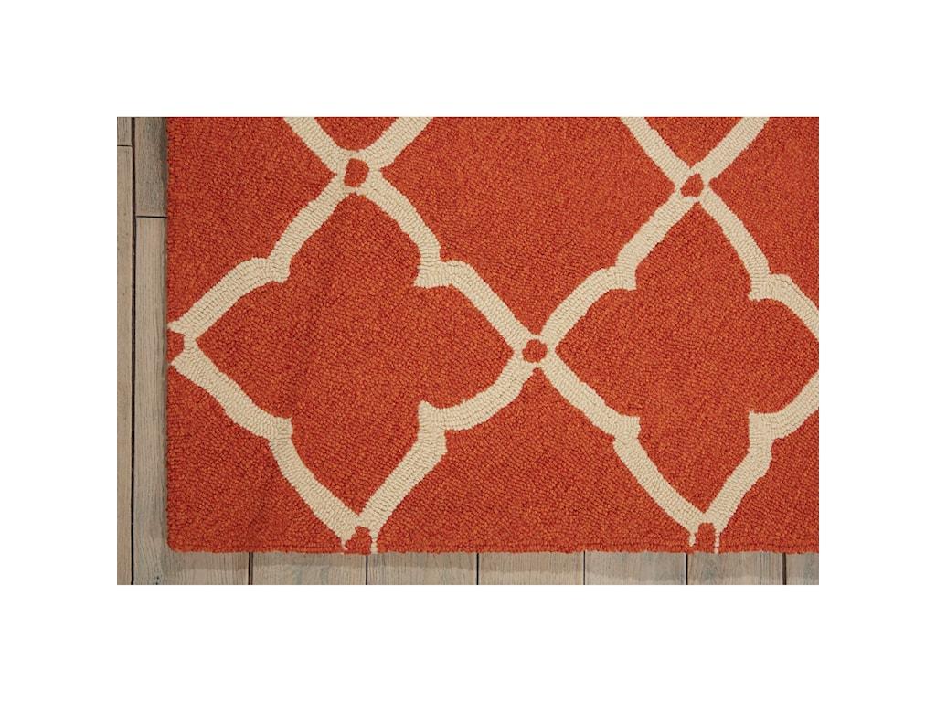Nourison Portico2' x 3' Orange Rectangle Rug