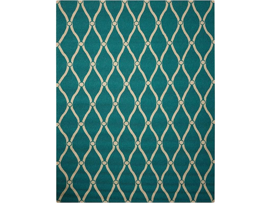 Nourison Portico10' x 13' Aqua Rectangle Rug