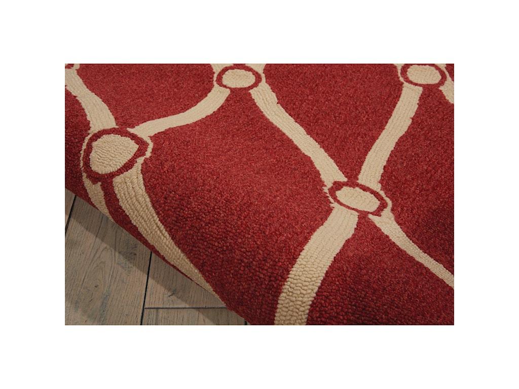 Nourison Portico10' x 13' Red Rectangle Rug
