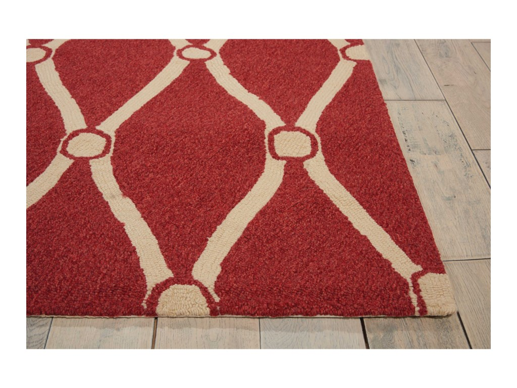 Nourison Portico2' x 3' Red Rectangle Rug