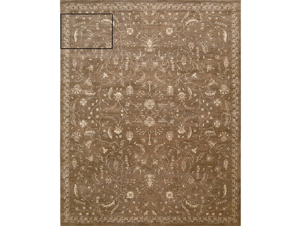 Nourison Silk Elements12' x 15' Cocoa Rectangle Rug