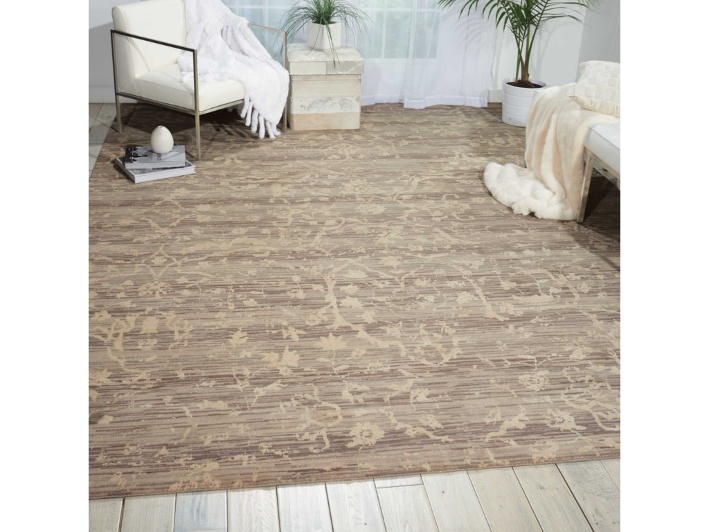 Nourison Silk Elements12' x 15' Taupe Rectangle Rug