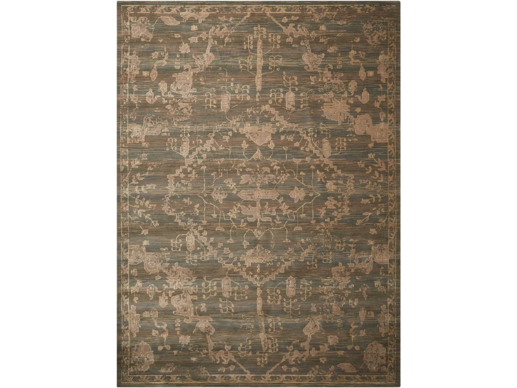 Nourison Silk Elements12' x 15' Azure Rectangle Rug