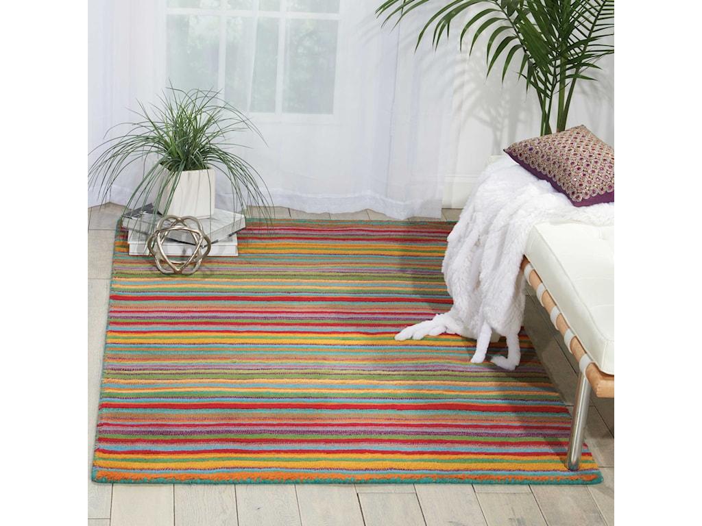 Nourison Skyland8' x 11' Stripe Rectangle Rug
